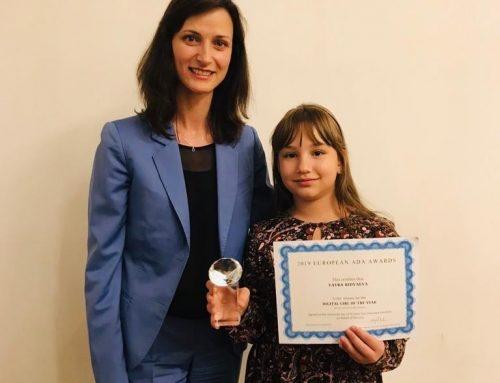 10-годишната Тайра Ридваева спечели европейска награда за Дигитално момиче на годината